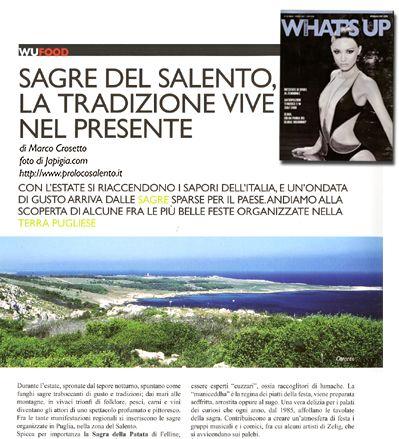 articolo su what's up magazine luglio - agosto 2007
