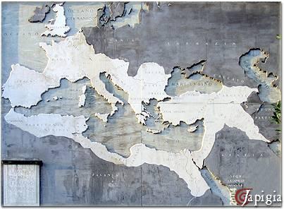 mappa dell impero romano