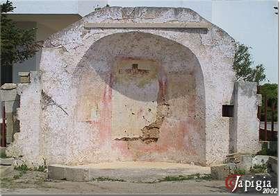 Felline: abside di Santa Sofia prina del restauro