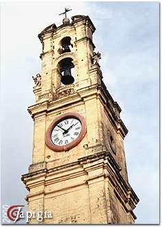 Casarano: particolare della Torre dell orologio