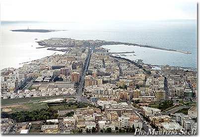 Veduta aerea di Gallipoli