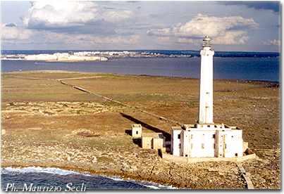 Veduta aerea dell Isola di Sant Andrea