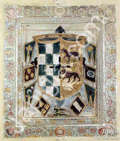 lo stemma nel castello carlo v di lecce