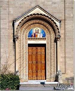 Parabita: portale del santuario della Madonna della Coltura