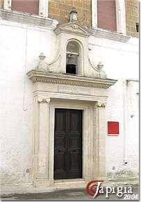 avetrana, la chiesa del carmine